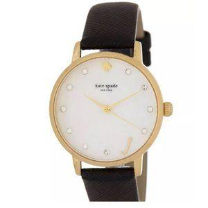 Kate Spade Monogram J Leather METRO Watch